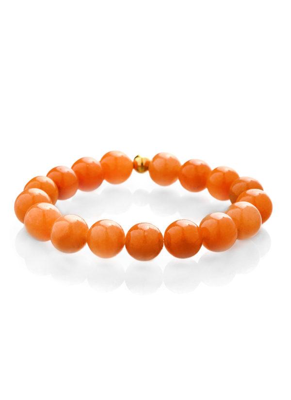 Oranžový avanturín náramek