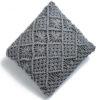 Macrame polštář Leonardo šedý