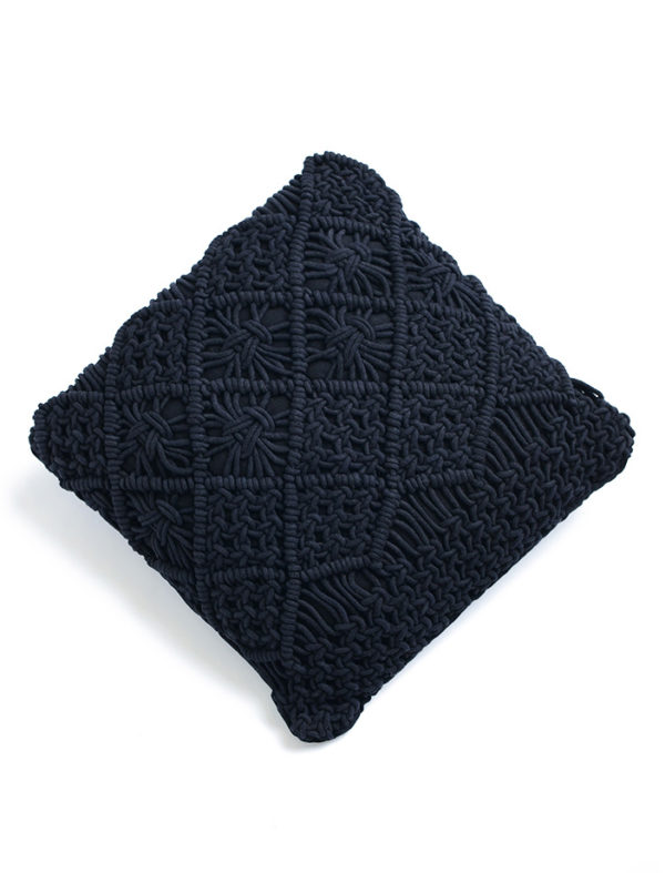 Macrame polštář Leonardo černý
