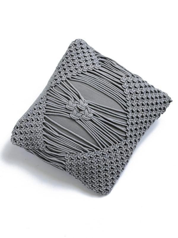 Macrame polštář Donatello šedý