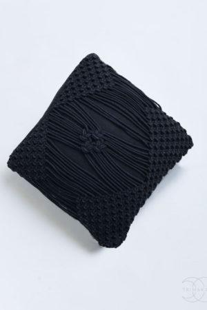 Macrame polštář Donatello černý