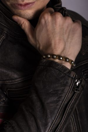 Shamballa náramek na ruku pyrit