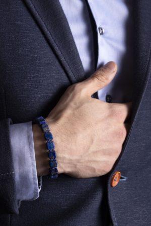 Shamballa náramek Lápis lazuli na ruku