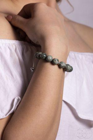 Shamballa náramek na ruku zelený