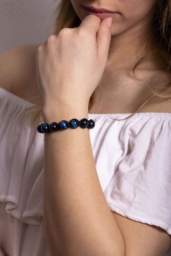shamballa náramek na ruku modrý
