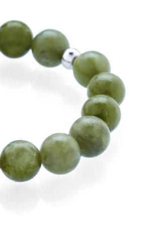 Zelený jadeit náramek