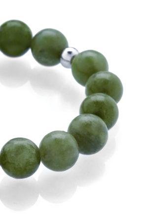 Zelený jadeit náramek detail