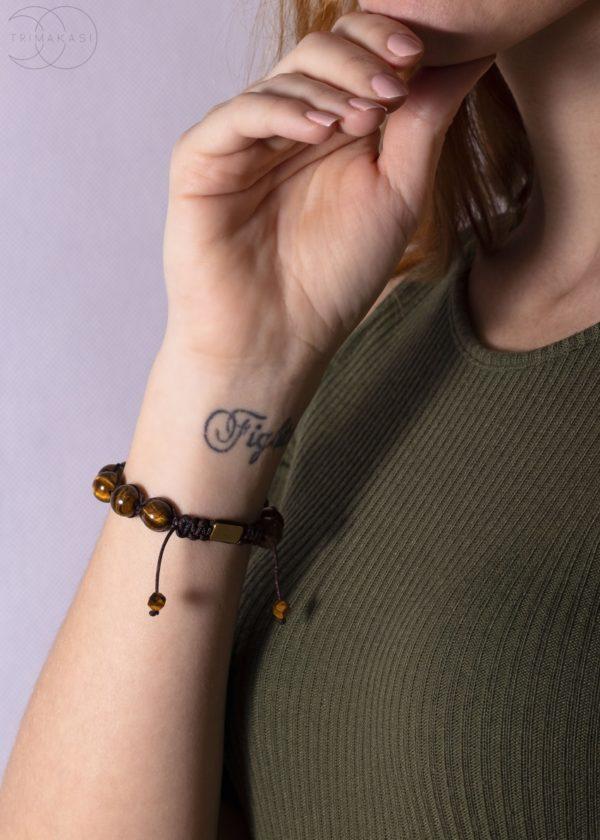 Shamballa náramek na ruku Tygří oko