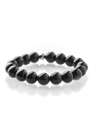 Černý obsidián náramek