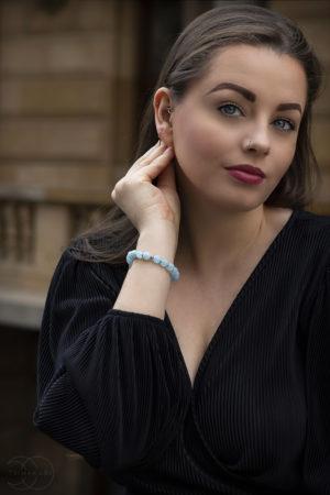 Akvamarín dámský náramek na ruku