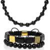 Set šperků z kamenů Triple black gear